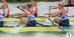 Rowing technique analysis of the men's 8+