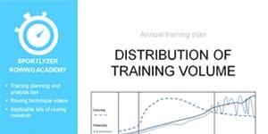 Distribution of training volume