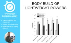 Body-build of lightweight rowers